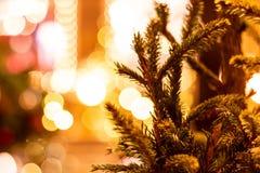 在红场的圣诞树 免版税库存图片