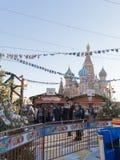 在红场的美好的圣诞节市场,莫斯科 免版税库存图片