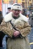 在红场的Reenactor在莫斯科 库存图片