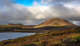在红外线的冰岛火山口 免版税图库摄影