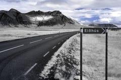在红外线的冰岛火山口 库存照片