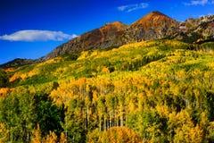 在红宝石峰顶的秋天 库存照片