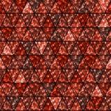 在红橙色颜色的无缝的发光的闪烁五彩纸屑样式 免版税库存照片