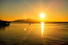 在红海的美好的日出 免版税图库摄影