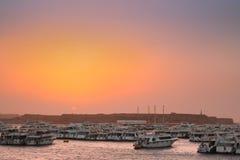 在红海的船围场 免版税图库摄影