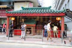 在红磡的小寺庙 免版税库存照片