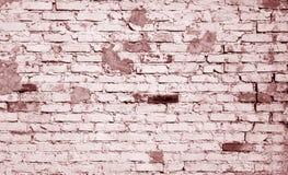 在红色口气的老被风化的砖墙样式 免版税库存照片