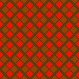 在红色和棕色颜色的抽象坚硬几何无缝的样式 库存图片