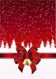 在红色和白色的圣诞卡 免版税库存照片