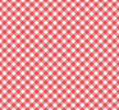 在红色和白色的方格花布样式 皇族释放例证