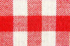 在红色和白细胞的纺织品纹理 免版税库存图片