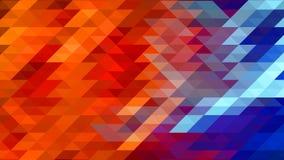 在红色和蓝色颜色的抽象几何三角背景 皇族释放例证