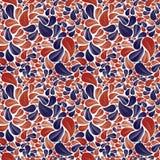 在红色和蓝色颜色的无缝的美好的花卉背景 库存图片