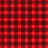 在红色和黑纤维无缝的样式格子呢的织品 EPS10 免版税库存照片