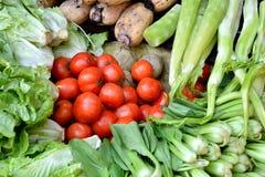 在红色和绿色的菜 免版税库存图片