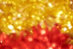 在红色和黄色背景的几何形状 免版税库存照片