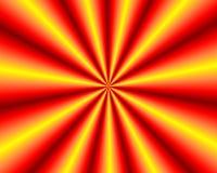 在红色和黄色颜色,背景的辐形形状 免版税库存图片