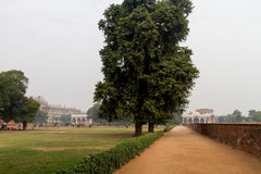 在红色堡垒的大厦在德里印度 免版税库存图片