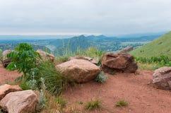 在红色岩石公园俯视 图库摄影