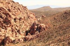 在红色岩石国家公园的小山 库存图片