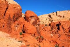 在红色岩石峡谷2的象面孔的岩石 免版税库存照片