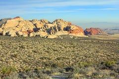在红色岩石峡谷SP的横向 图库摄影