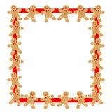 在红色框架姜饼人 库存照片