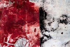 在红色白色和黑口气的精采五颜六色的破裂的膏药背景 图库摄影