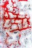 在红色白色和黑口气的精采五颜六色的破裂的膏药背景 免版税库存图片