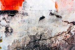 在红色白色和黑口气的精采五颜六色的破裂的膏药背景 库存图片