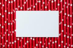 在红色白色星秸杆的白色空插件 库存图片