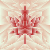 在红色的传染媒介秋天多角形马赛克海报 免版税库存照片