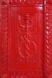 在红色的哥特式样式 免版税库存照片