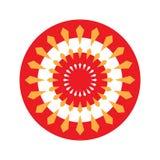 在红色的圆自转箭头 免版税库存照片