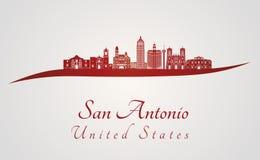 在红色的圣安东尼奥地平线 库存例证
