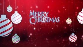 在红色的圣诞快乐摇摆的装饰品
