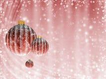 在红色的圣诞快乐背景 图库摄影