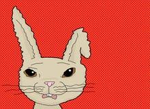 在红色的害怕的兔子 皇族释放例证