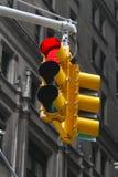 在红色的红绿灯 免版税库存图片