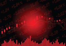 在红色的股市 向量例证