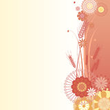 在红色的花卉背景 皇族释放例证