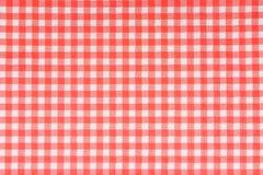 在红色的被仿造的餐巾 库存图片