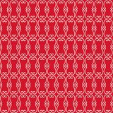 在红色的装饰几何漩涡 向量例证