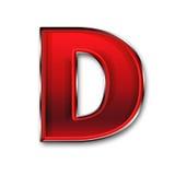 在红色的金属信件D 库存照片