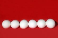 在红色的鸡蛋 免版税图库摄影
