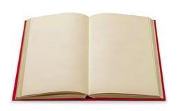 在红色盖子的葡萄酒空白的书 免版税库存图片