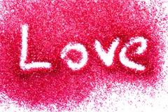 在红色糖的爱 库存照片