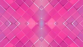 在红色紫色梯度颜色的抽象简单的3D背景,作为现代几何背景的低多样式或 库存例证