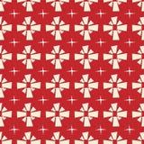 在红色背景的无缝的乱画丝带纹理样式 库存图片