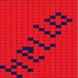 在红色背景的明亮的五颜六色的抽象问候 库存照片